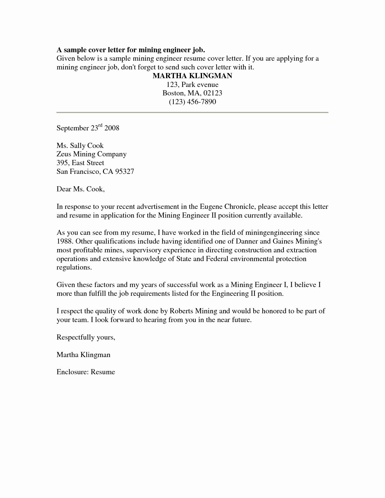 Cover Letter Sample Free Sample Job Cover Letter for