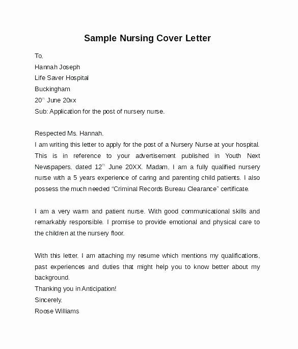 Cover Letter Sample Nurse Australia Cover Letter Example