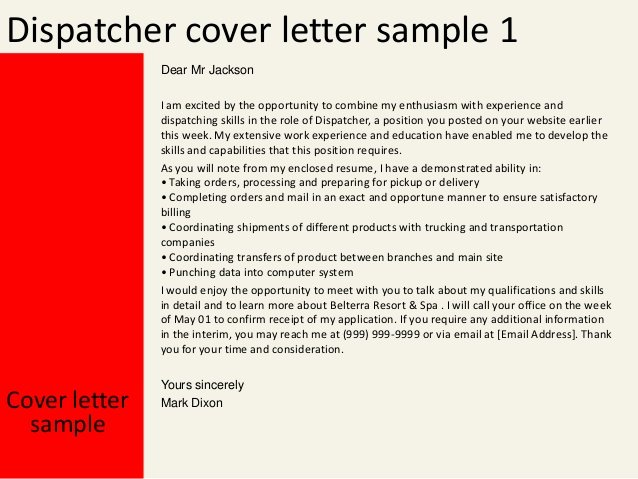 Cover Letter Samples for 911 Dispatcher Custom Writing