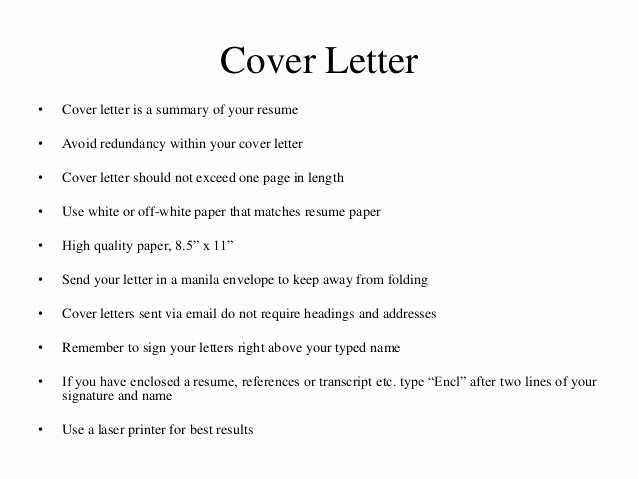 Cover Letter Sign Name