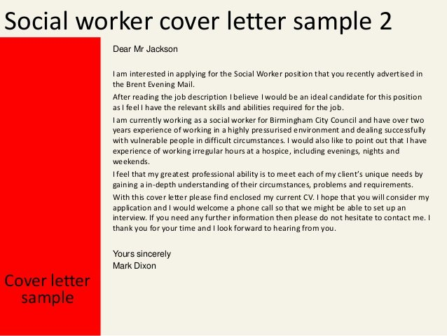 Cover Letter social Services Sample Pollutionvideohive