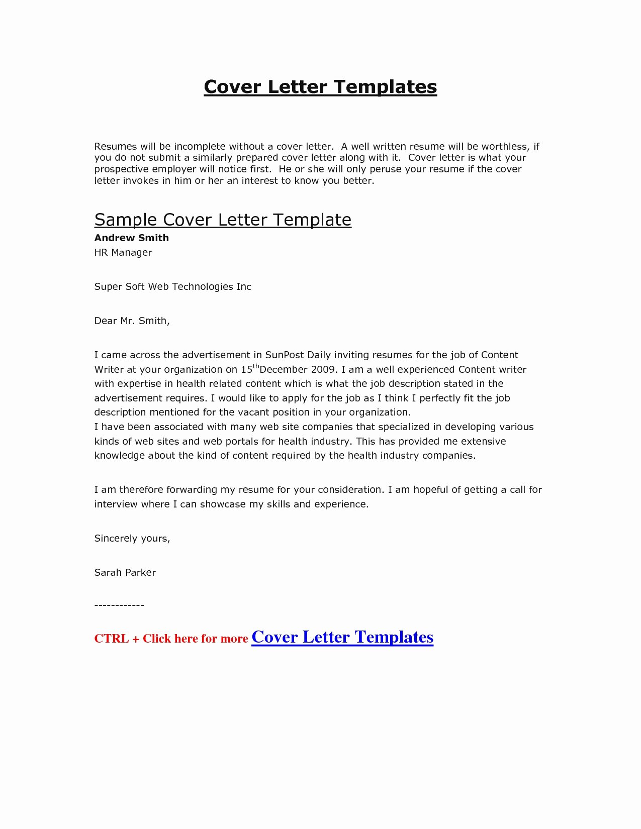 Cover Letters for Line Applications Sarahepps