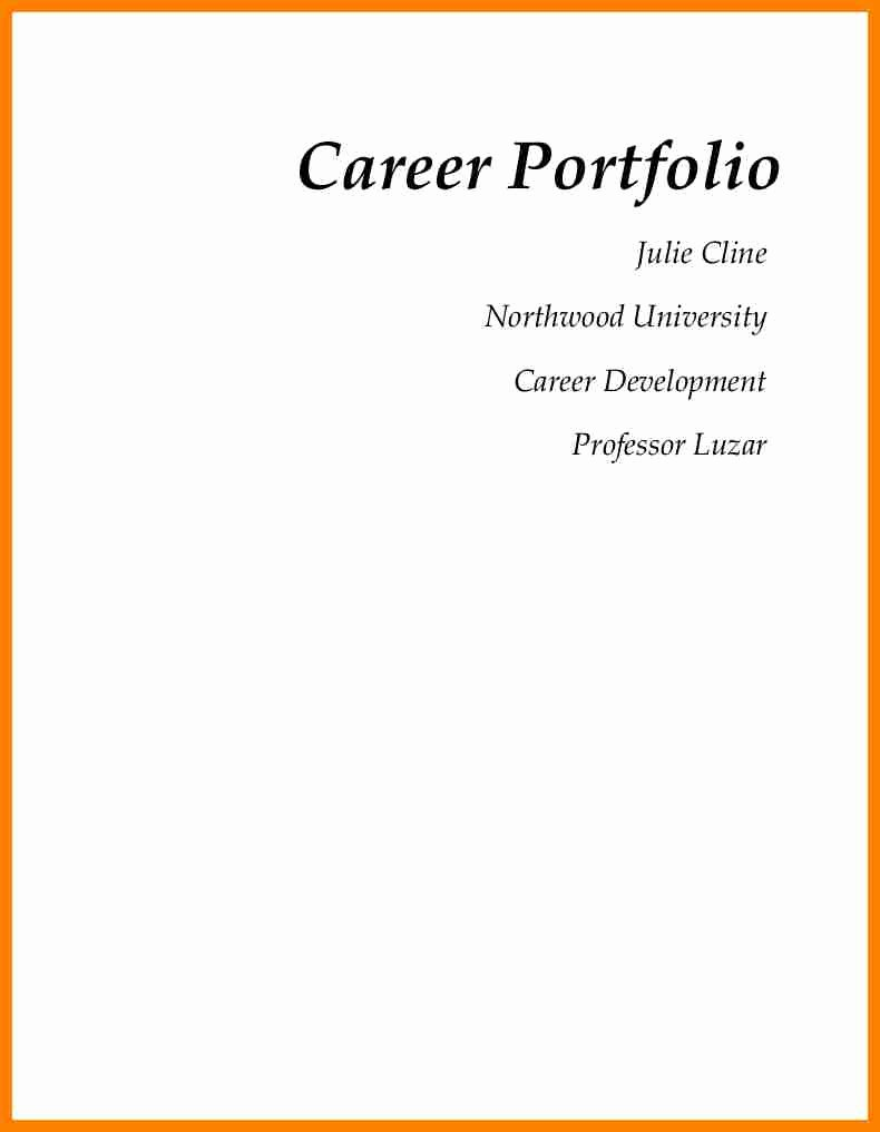 Cover Page for Resume Portfolio – Perfect Resume format