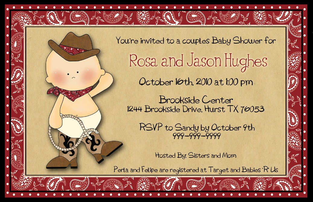 Cowboy Funny themed Baby Shower Ideas