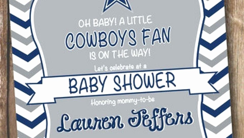Cowboys Invitation Template Inspirational Colored Football