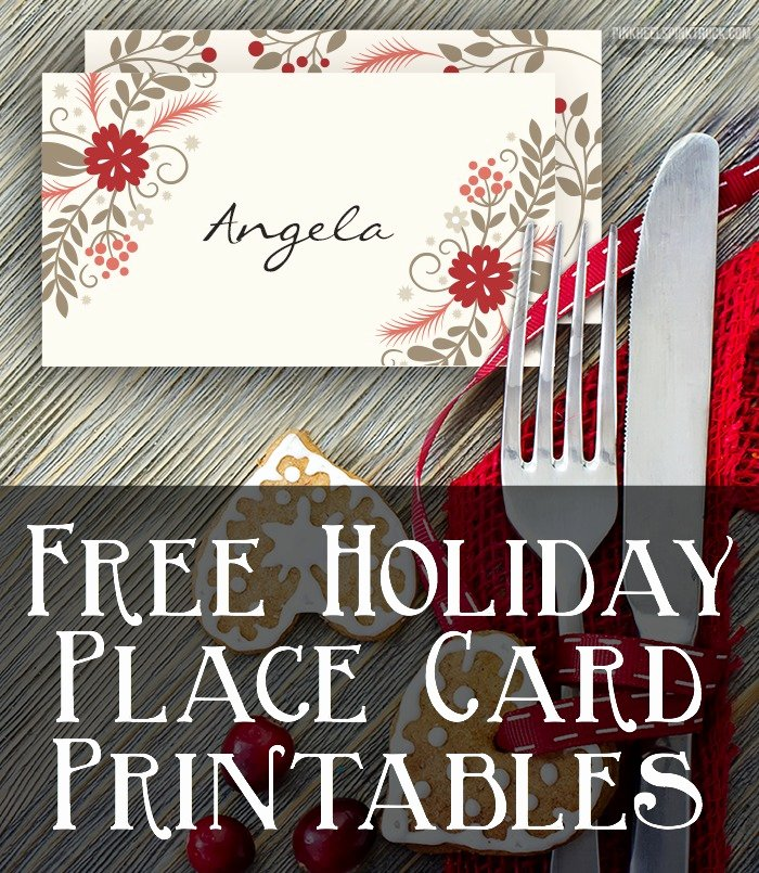 Craft Free Printable Holiday Place Cards • Taylor Bradford