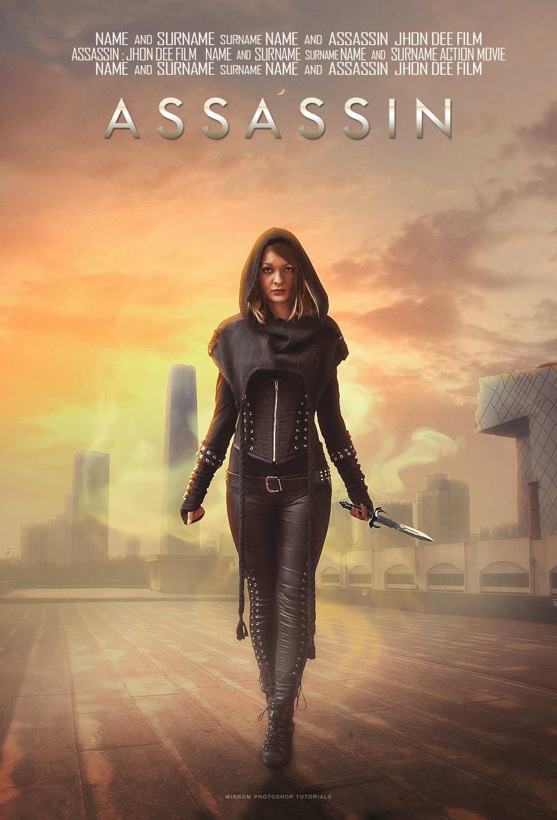 Create A assassin Movie Poster Manipulation In Shop