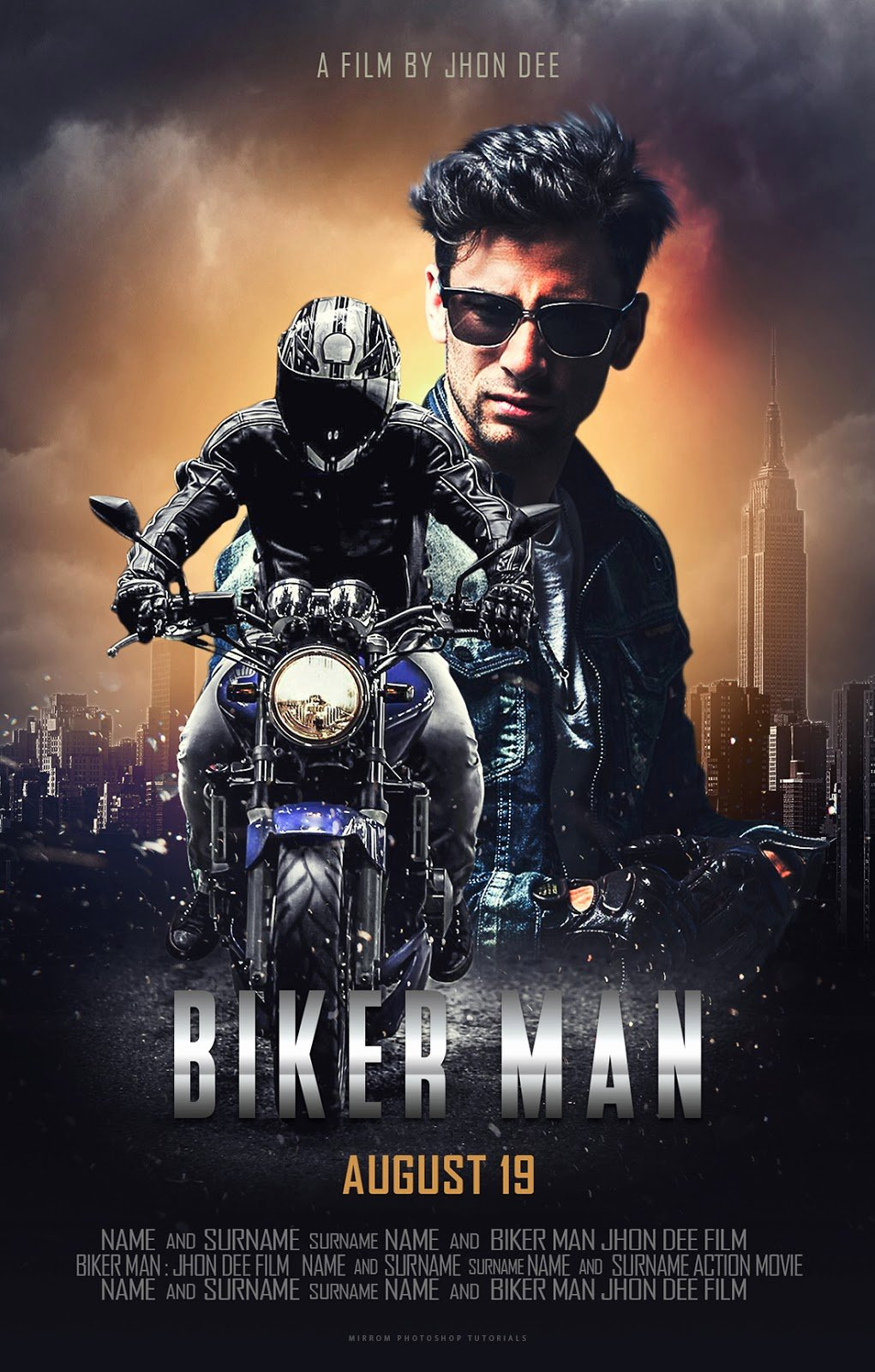 Create A Blockbuster Style Movie Poster Design In Shop