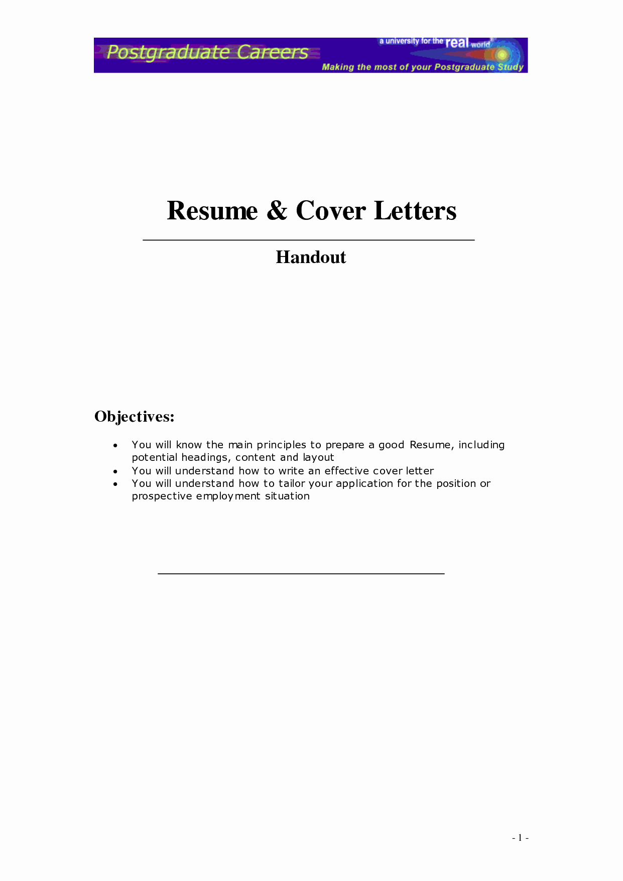 Create A Cover Letter for Cv