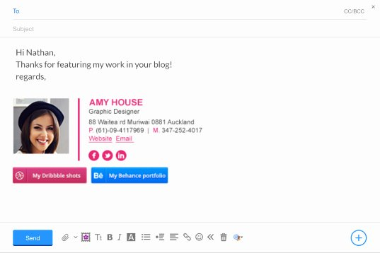 Create A Professional Yahoo Mail Signature Wisestamp
