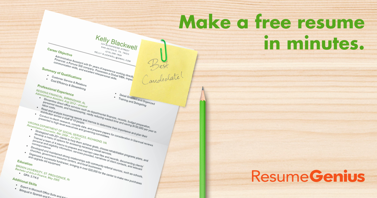 Create A Resume Line for Free