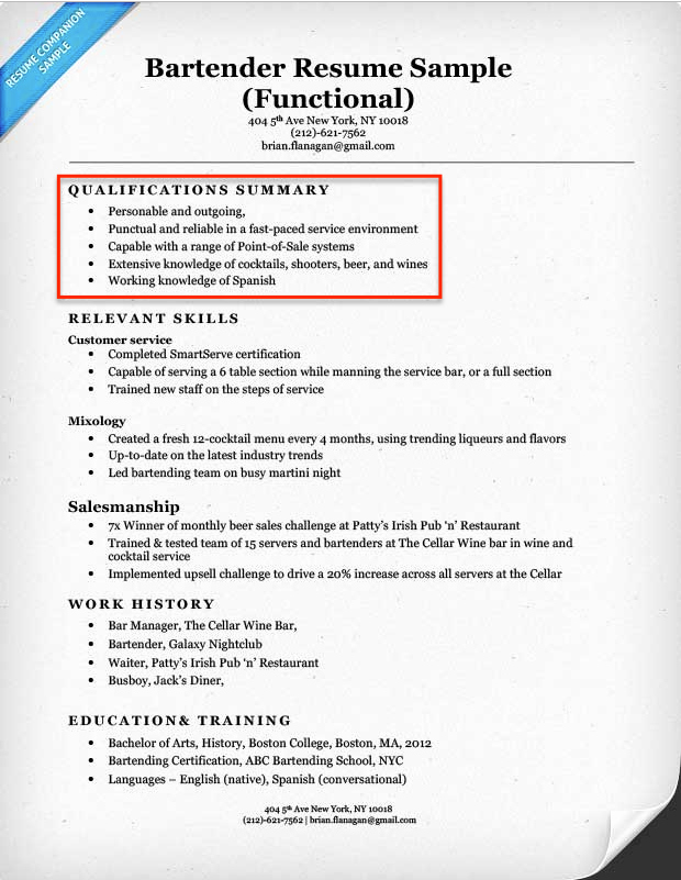 Create A Resume Profile Steps Tips & Examples