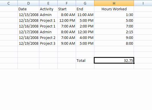 Create A Timesheet In Excel to Track Billable Hours for