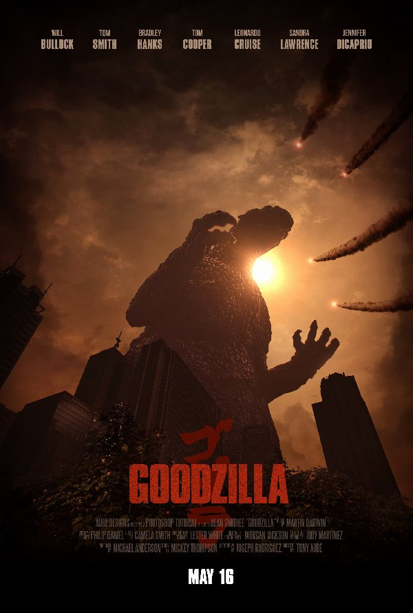 Create An Epic Godzilla Inspired Movie Poster In Adobe