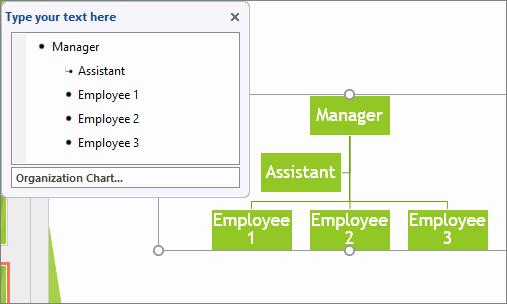 Create An organization Chart Using Smartart Graphics