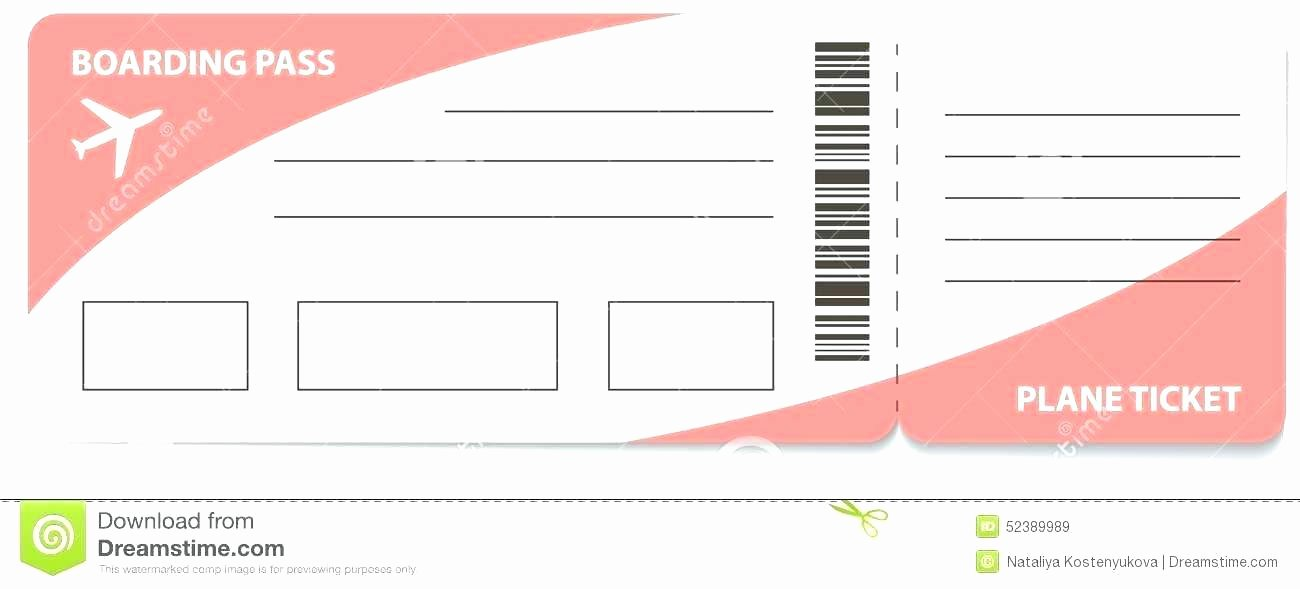 Create Fake Airline Ticket Template Plane Blank