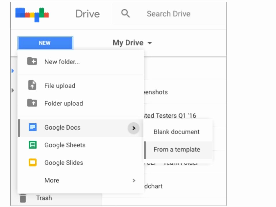 Create File Directly From Templates In Google Drive