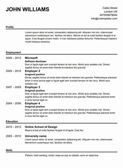 Create Free Resume Best Resume Gallery