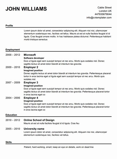 Create Free Resume Best Resume Gallery