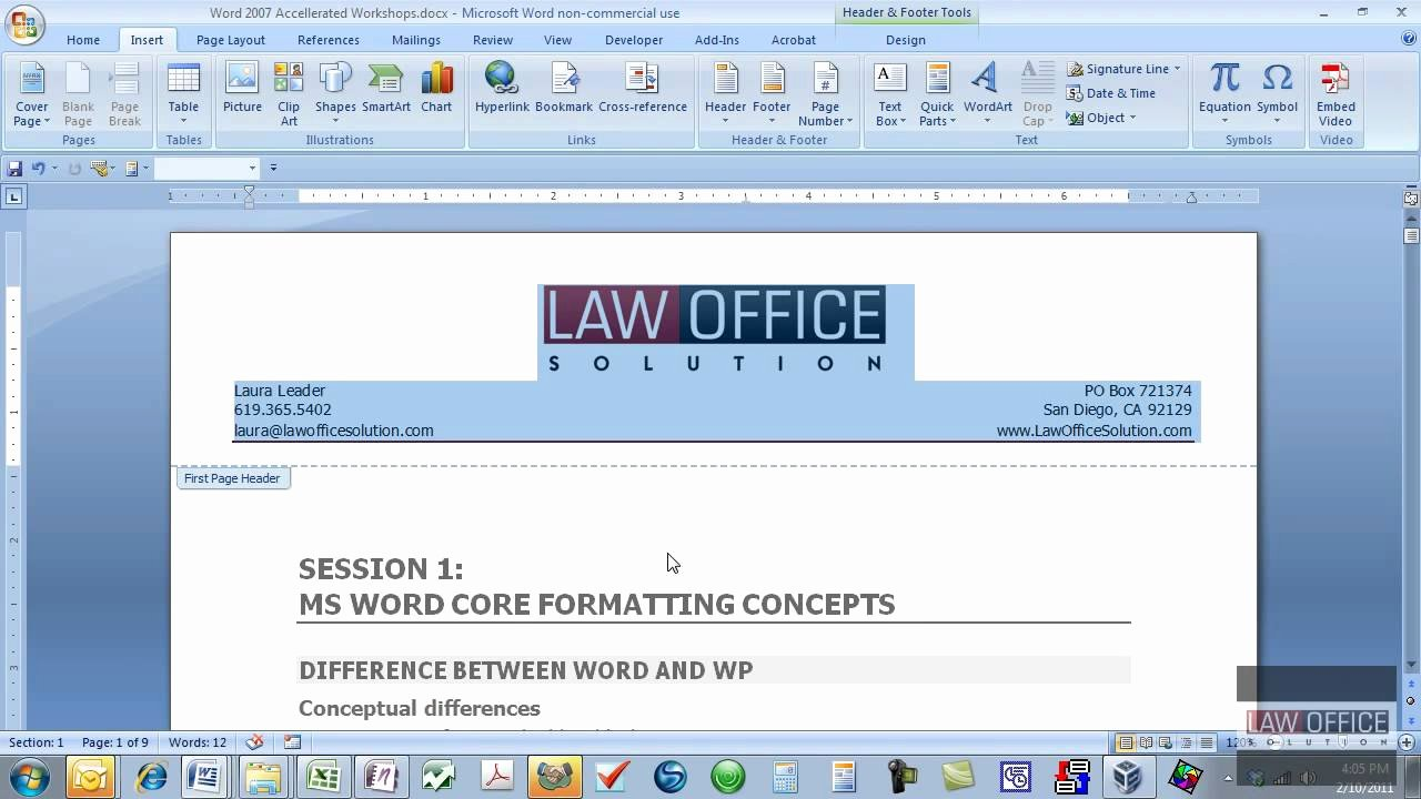 Create Letterhead In Word 2010 Design Templates