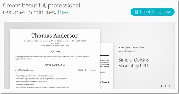 Create Professional Resumes and them Line with Cv