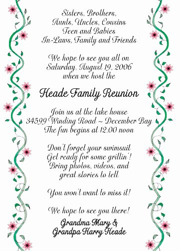 Create Unique Family Reunion Party Invitations