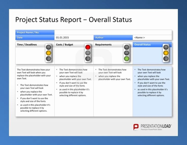 Create Weekly Project Status Report Template Excel