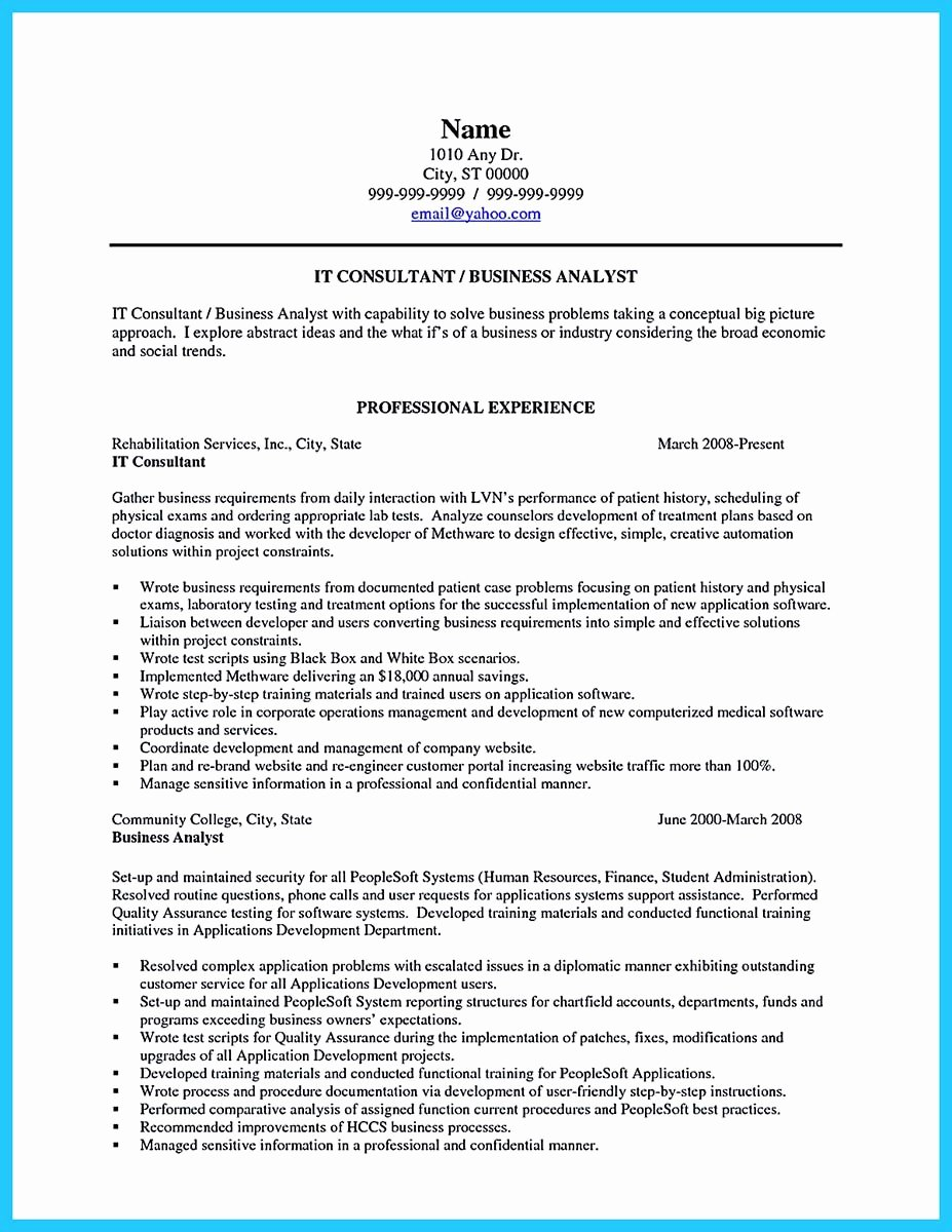 Executive Business Process Analyst Resume Template Latter Example