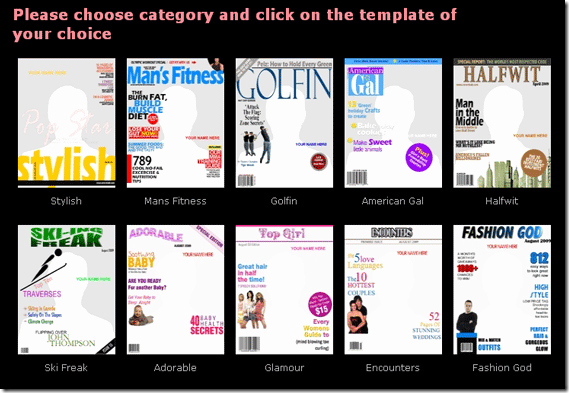 Create Your Own Custom Magazine Covers with Coverdude