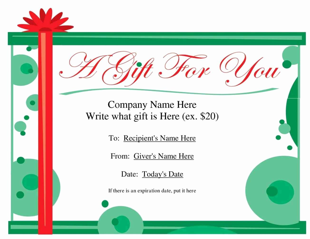 Create Your Own Gift Certificate Template Update234