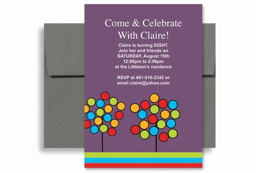 Create Your Own Microsoft Word Birthday Invitation 5x7 In