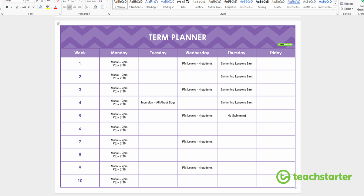 Create Your Own Teacher Planner Using Printable Templates