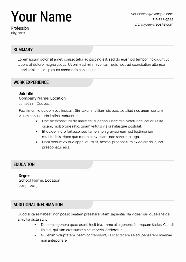 Creating A Resume for Free