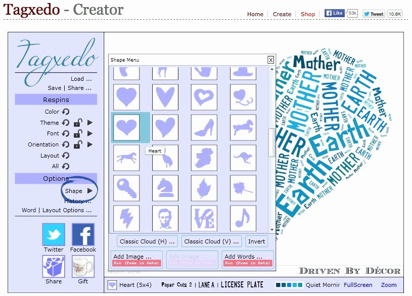 Creating Personalized Word Cloud Art with Tagxedo