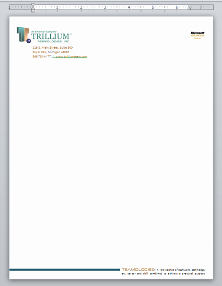 Creating Professional Looking Letterhead In Microsoft Word