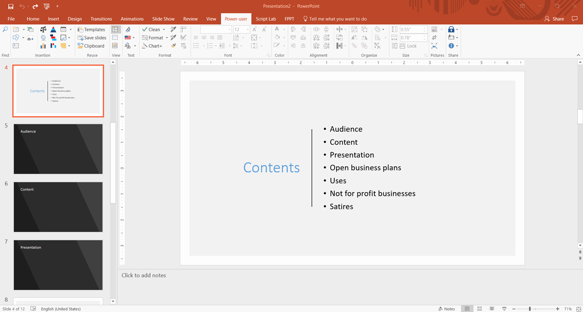 Creating Your Presentation Outline with Quickstarter In
