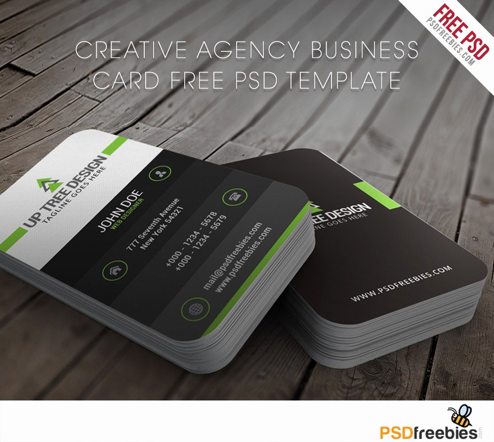 Creative Agency Business Card Free Psd Template Download Psd