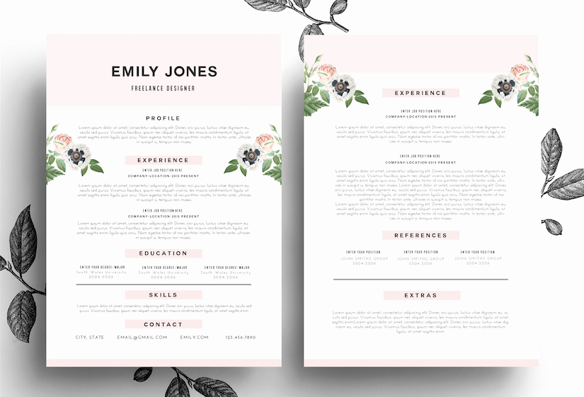 Creative Cv Cover Letter Psd Word Resume Templates On