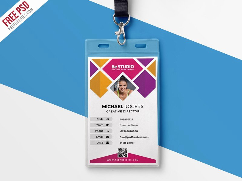 Creative Fice Id Card Template Psd Download Download Psd