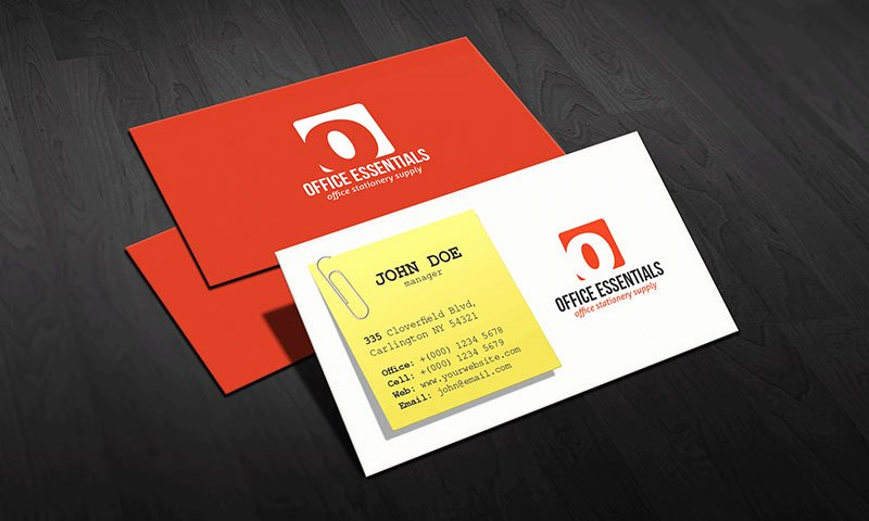 Creative Fice Supplies Business Card Template Free