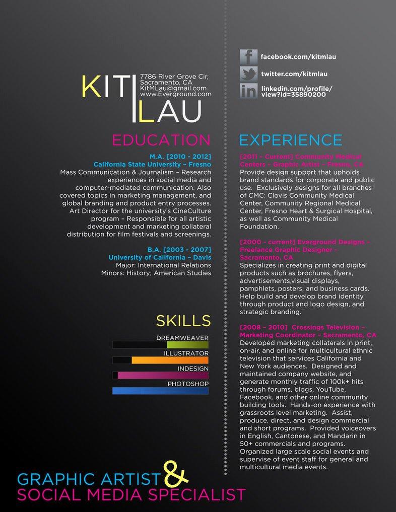 creative graphic resume CV