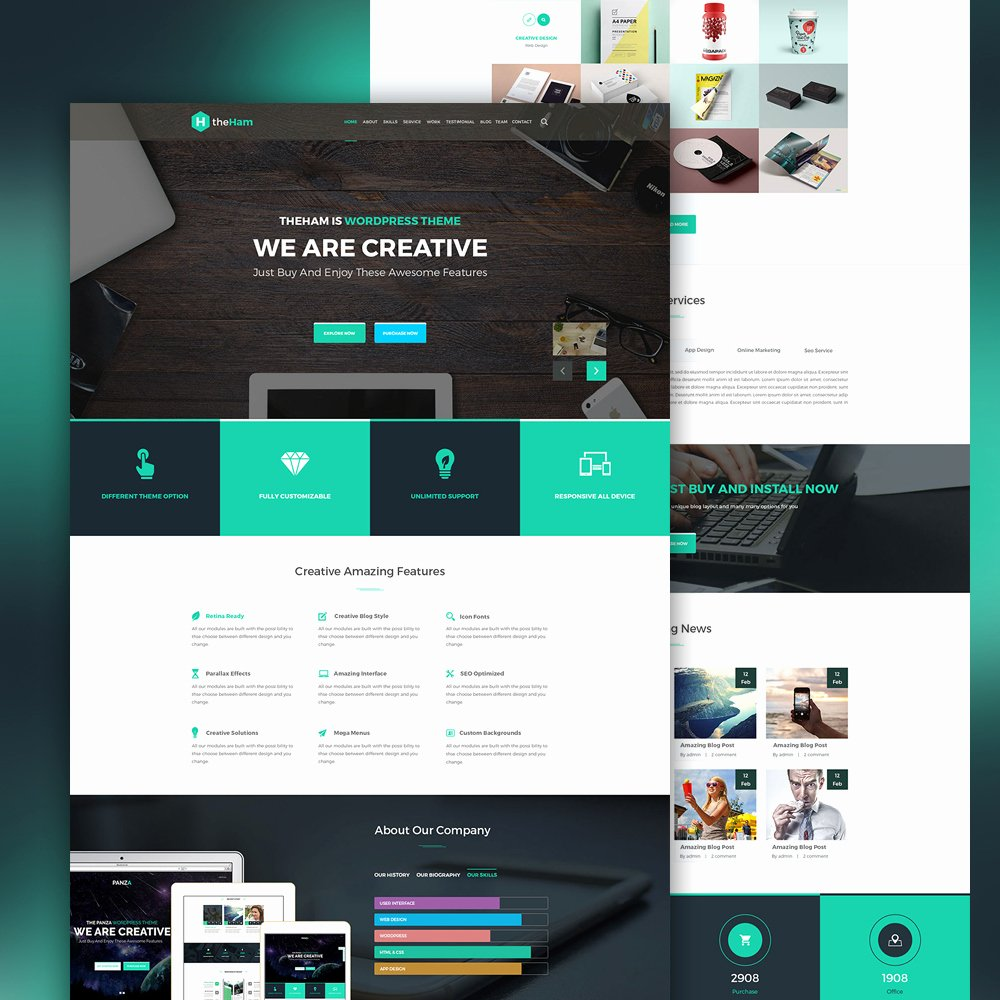Creative Landing Page Template Free Psd Download