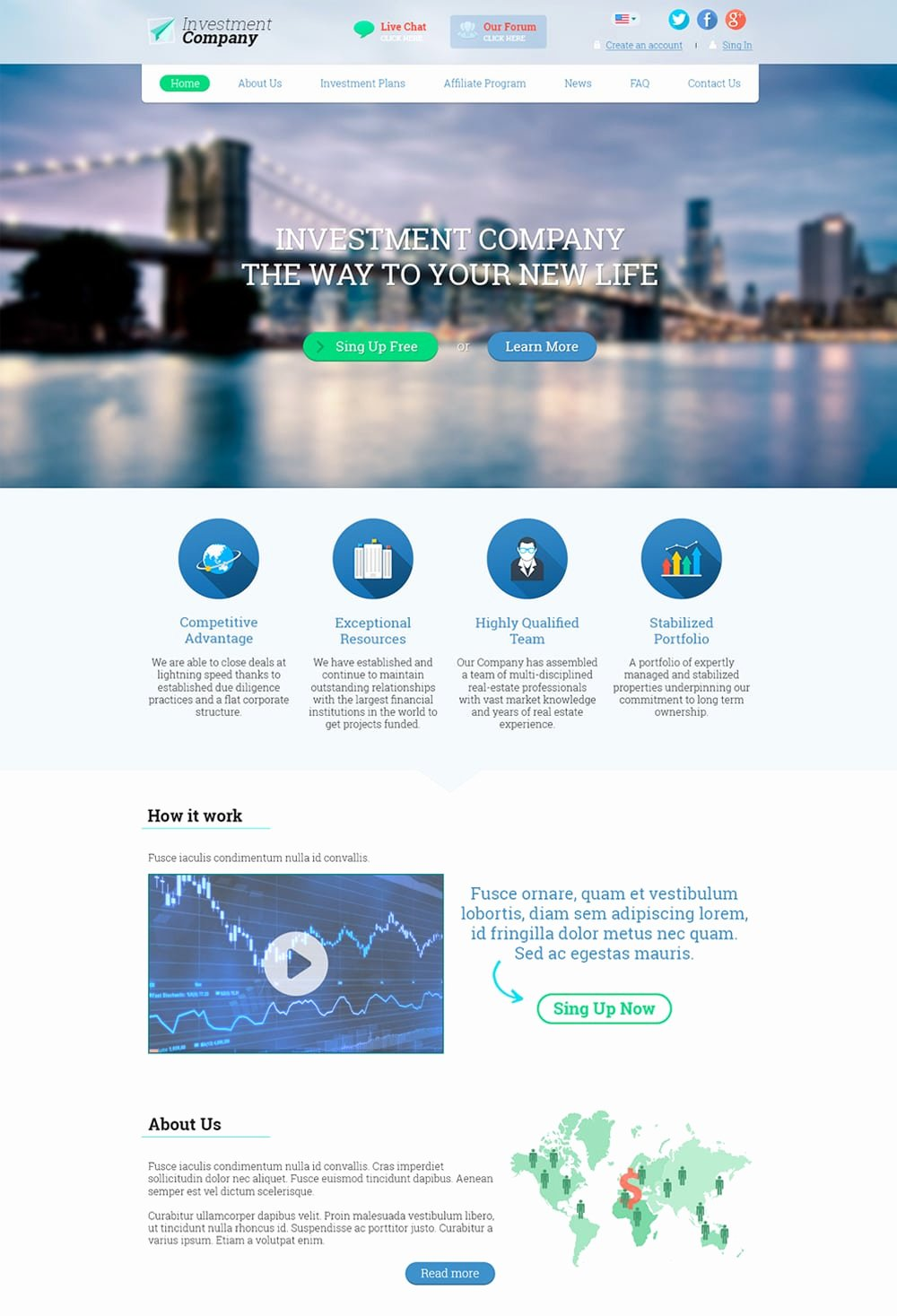 Creative Landing Page Website Template Mfawriting760 Web