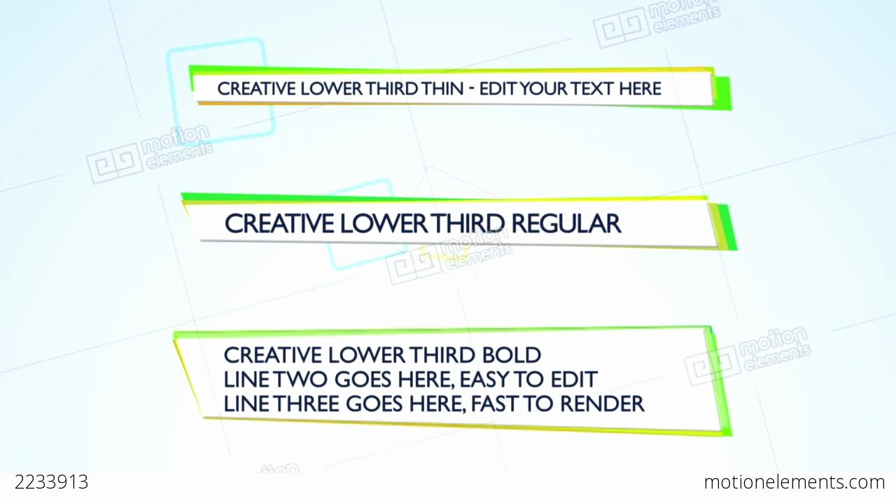 Creative Lower Third after Effects Template