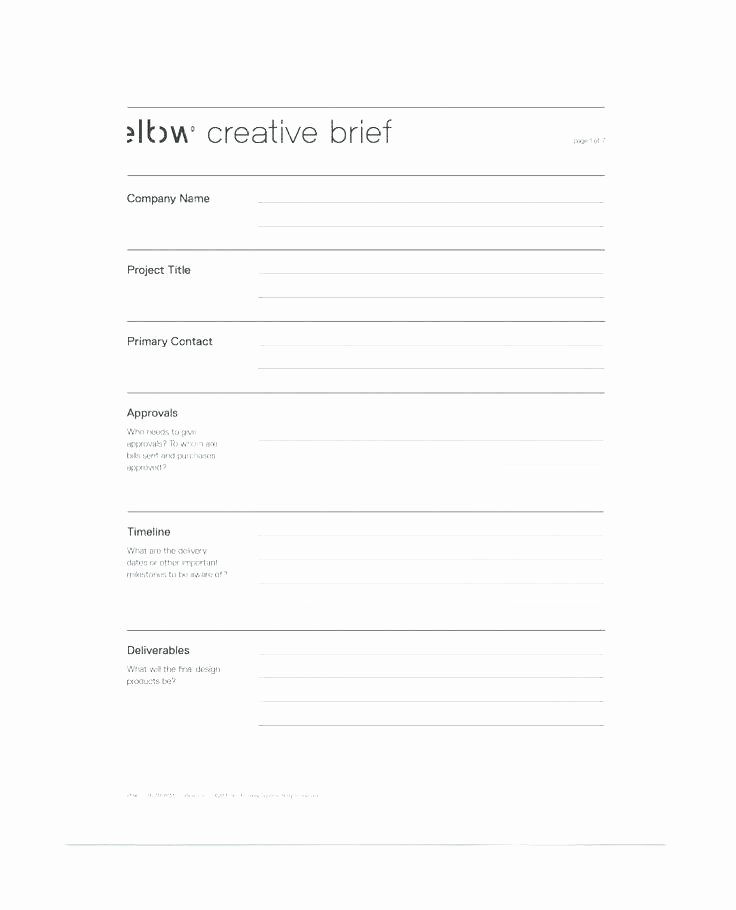 Creative Market Brief Template Marketing Resume Samples
