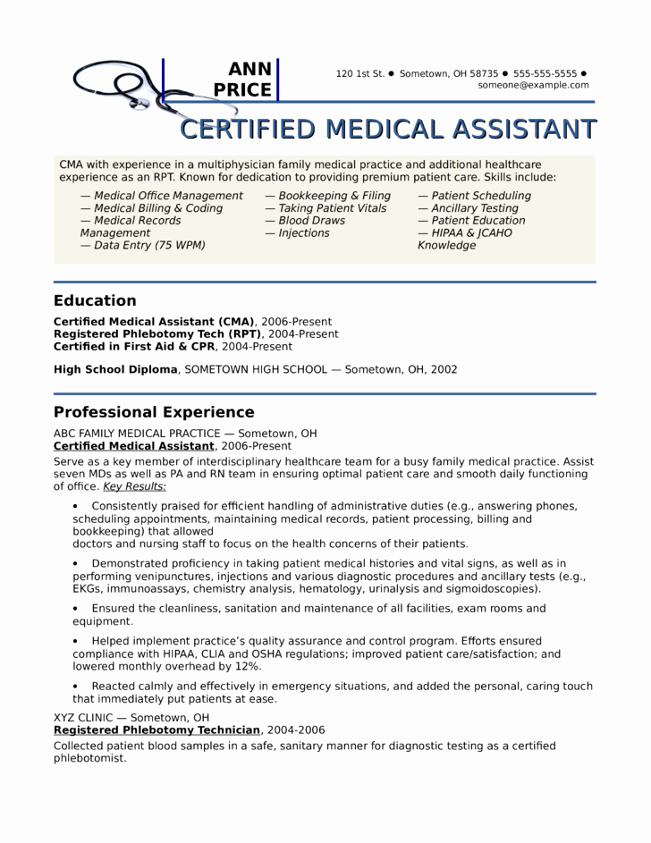 Creative Medical assistant Resume Template