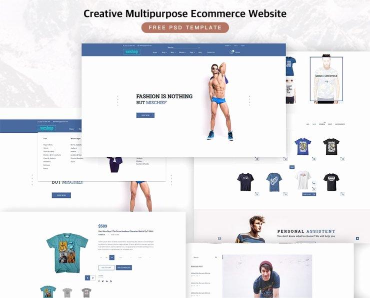 Creative Multipurpose E Merce Free Psd Template Download