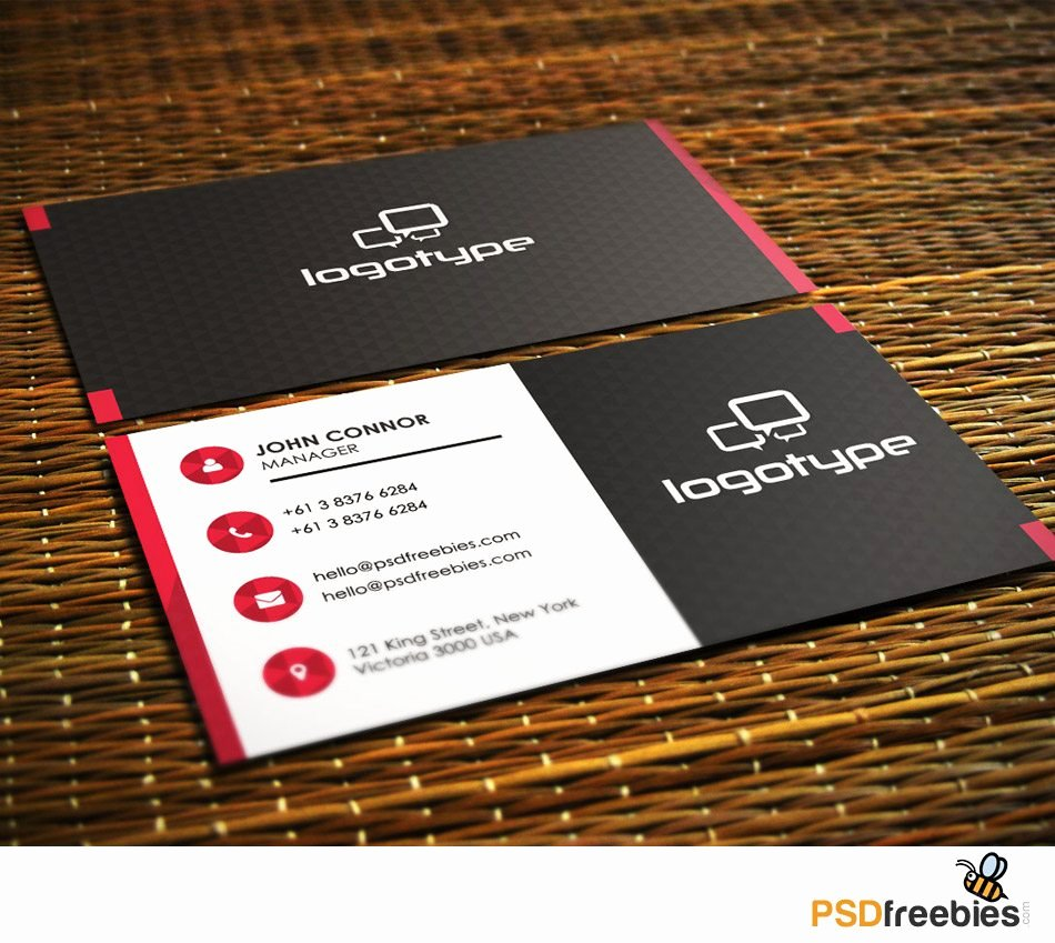 Creative Professional Business Card Free Psd Template