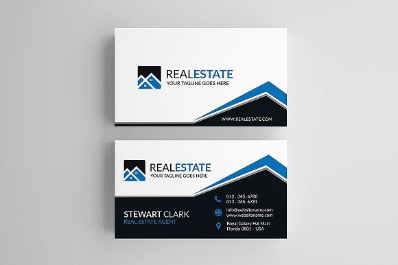 Creative Real Estate Business Card Business Card