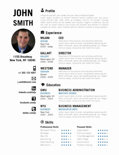 Creative Resume Template Trendy Resumes